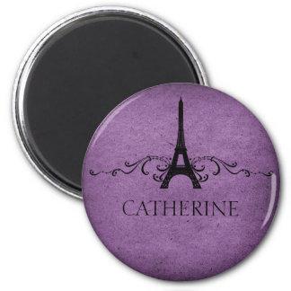 Imán del Flourish del francés del vintage, púrpura