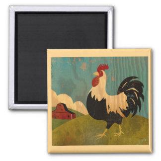 Imán del gallo de la granja del vintage