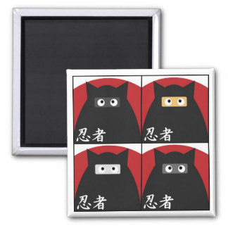 Imán del gatito de Ninja