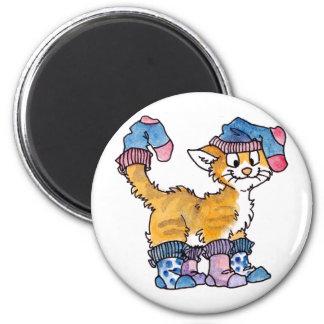 Imán del gatito del calcetín