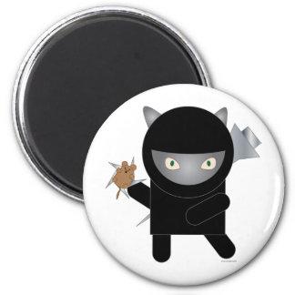 imán del gatito del ninja
