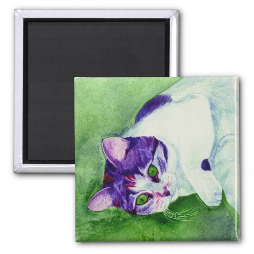"Imán del gato de calicó - ""chica de ojos verdes """