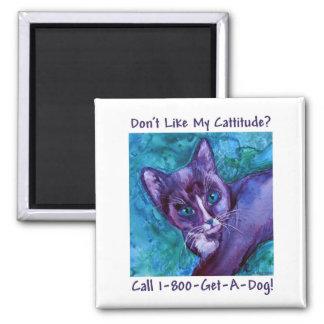 Imán del gato de Cattitude