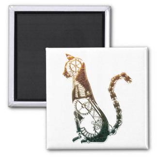 Imán del gato de Steampunk