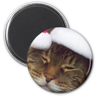 Imán del gato del navidad
