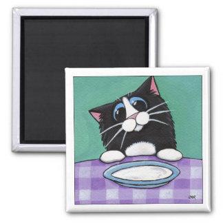 Imán del gato del tiempo de la leche