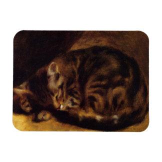 Imán del gato el dormir de Renoir
