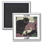 Imán del gato y del lavaplatos de los gatitos