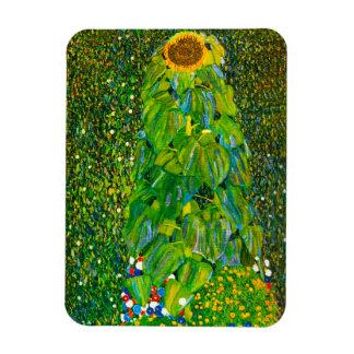 Imán del girasol de Gustavo Klimt