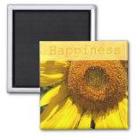 Imán del girasol de la felicidad
