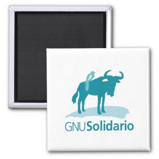 Imán del GNU Solidario