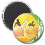 imán del hacha del ginga del capoeira