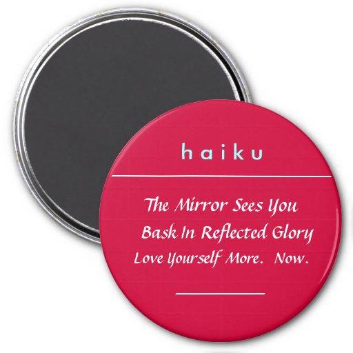 Imán del Haiku de la afirmación (rojo)