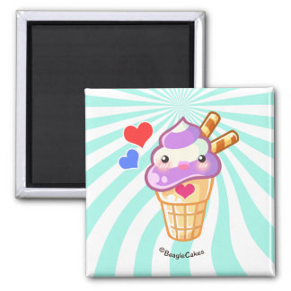 Imán del helado de Kawaii
