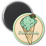 Imán del helado del Chocolat-microprocesador de la