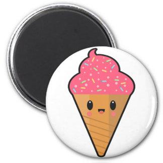 Imán del helado del tiempo del fiesta