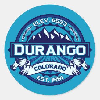 Imán del hielo de Durango Etiqueta Redonda