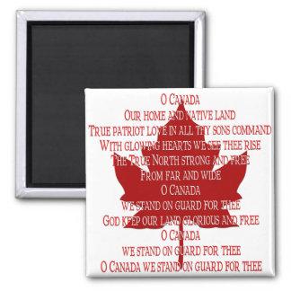 Imán del himno de Canadá del imán del refrigerador
