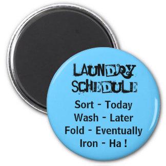 Imán del horario del lavadero