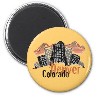 Imán del horizonte de Denver Colorado