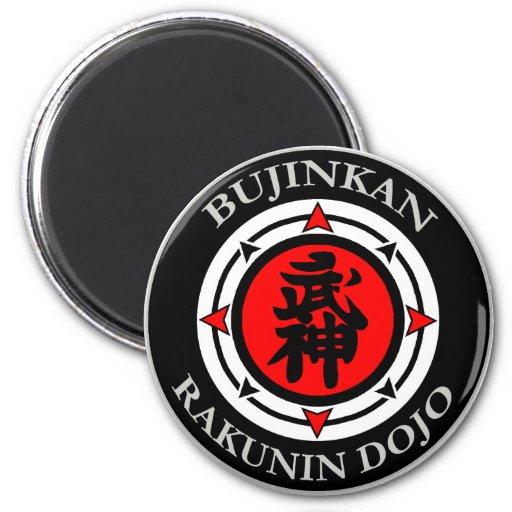 Imán del ir de discotecas de Bujinkan Rakunin (Dan