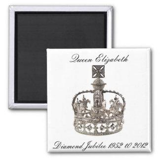 Imán del jubileo de diamante de la reina Elizabeth