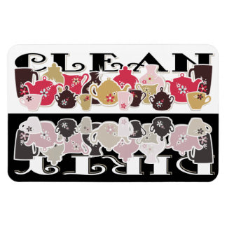 Imán del lavaplatos de CLEAN-DIRTY - flexión retra