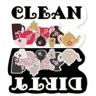 Imán del lavaplatos de CLEAN-DIRTY - imán de la es Esculturas Fotográficas