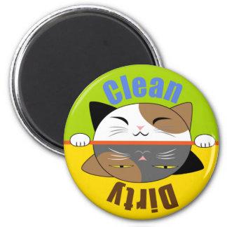 Imán del lavaplatos de la cara del gatito