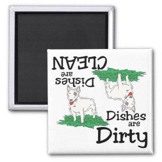 Imán del lavaplatos de los amantes de bull terrier