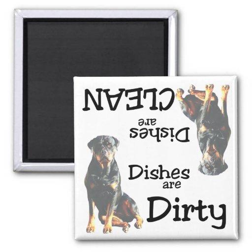 Imán del lavaplatos de los amantes de Rottweiler