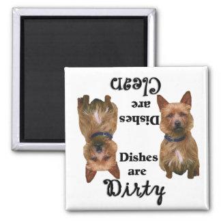 Imán del lavaplatos de los amantes de Terrier de m