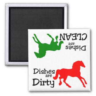 Imán del lavaplatos de los amantes del caballo