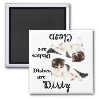 Imán del lavaplatos de los amantes del gato