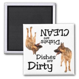 Imán del lavaplatos de los amantes del pastor alem