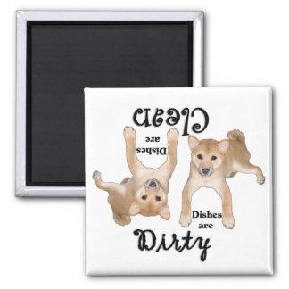 Imán del lavaplatos de los amantes del perrito de