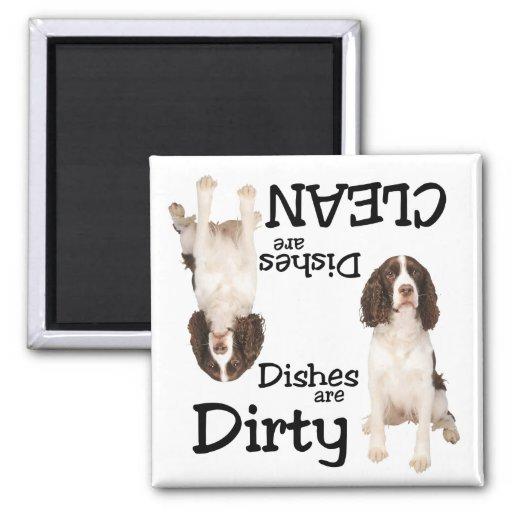 Imán del lavaplatos de los amantes del perro de ag