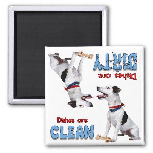 Imán del lavaplatos de los amantes del perro de Ja