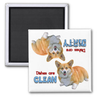 Imán del lavaplatos de los amantes del perro del