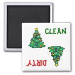 Imán del lavaplatos del árbol de navidad