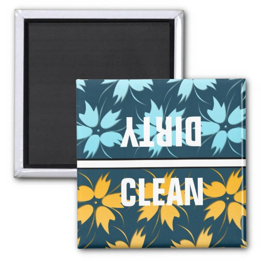 Imán del lavaplatos del diseño floral