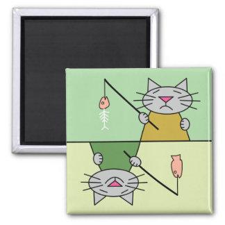 Imán del lavaplatos del gato de la pesca