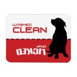 Imán del lavaplatos del perrito del perro - limpio