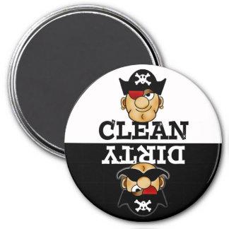 Imán del lavaplatos del pirata del dibujo animado