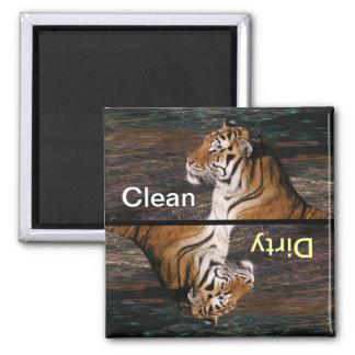 Imán del lavaplatos del retrato del tigre
