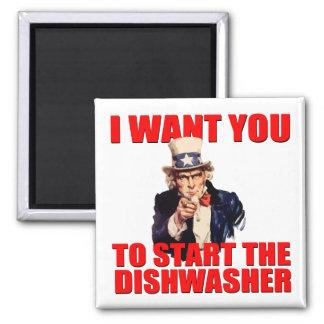 Imán del lavaplatos del tío Sam