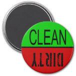 Imán del lavaplatos - limpie/sucio
