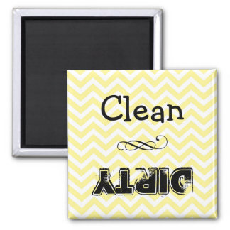 Imán del lavaplatos: limpio o sucio (galón amarill
