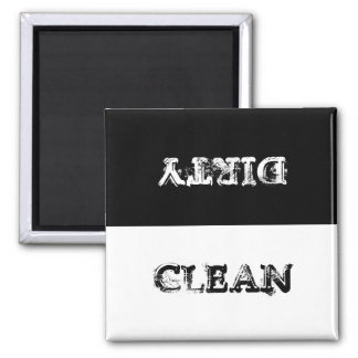 ¿Imán del lavaplatos limpio o sucio? Imán Cuadrado