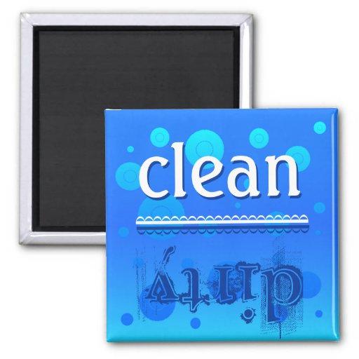 ¿Imán del lavaplatos - limpio o sucio? Imán Cuadrado